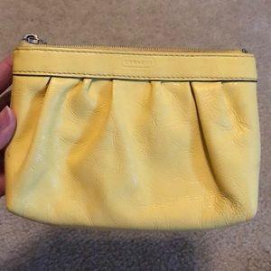 Coach Bags - Yellow Coach wristlet